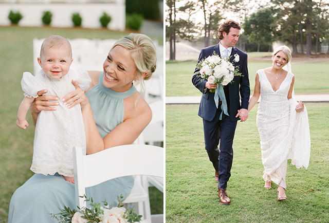 Film wedding day portraits of family and couple by Sarah Der