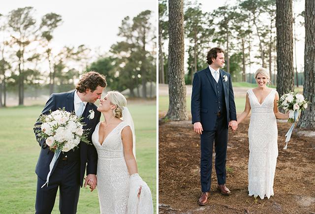 Film wedding portraits at Cape Fear Country Club by Sarah Der