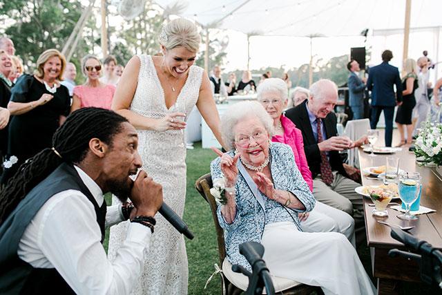 Grandma is serenaded by wedding band  By Sarah Der