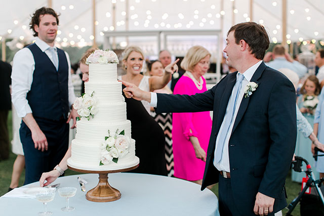 Brother is about to ruin cake at wedding reception  By Sarah Der