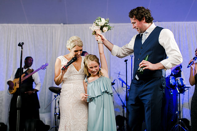 Couples sings happy birthday to niece at wedding reception and surprises her By Sarah Der
