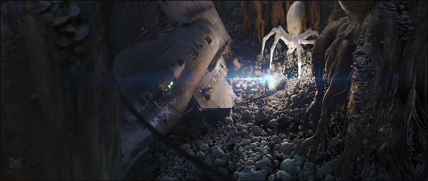 Tribute to Ralph McQuarrie. (Dagobah planet)