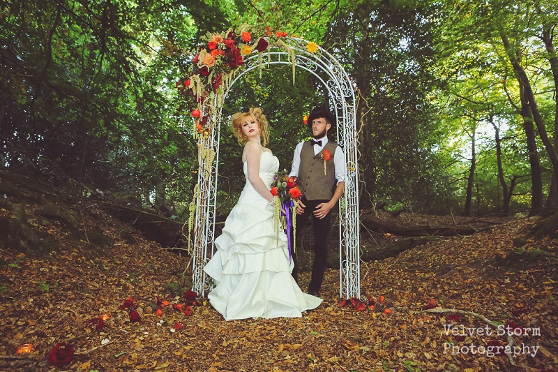 Photography by  Velvet Stom . Dress by  Yasemins Gowns . Flowers by  Nells Flowers  &  Sussex Flower Farm.  Suit from  Dickies of Crawley .