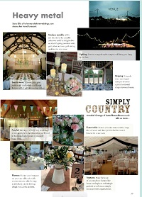 Venue styling feature in Your Sussex Wedding