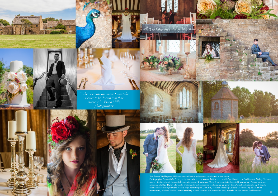 Featured shoot in Your Sussex Wedding