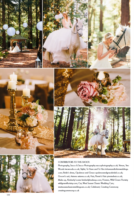 Glam Woodland shoot at Two Woods featured in YSW