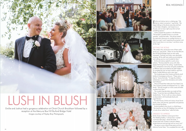 One of our beautiful brides featured in Your Surrey Wedding Magazine Aug/ Sep 2019