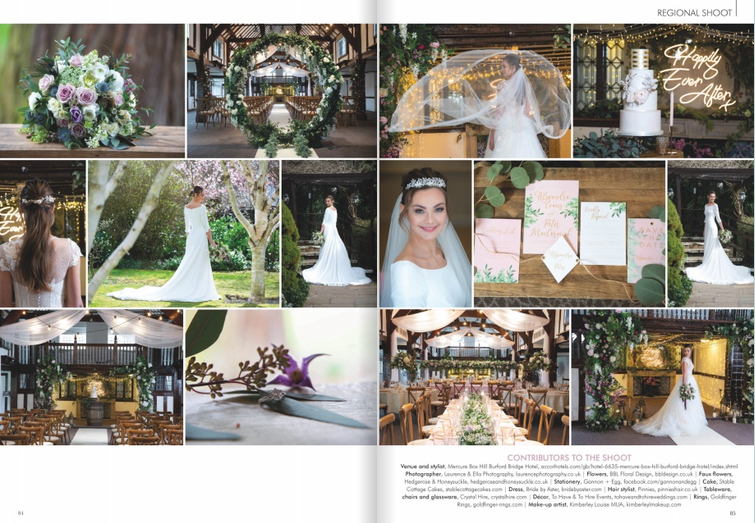 Floral spring shoot featured in Your Surrey Wedding Magazine Aug/ Sep 2019