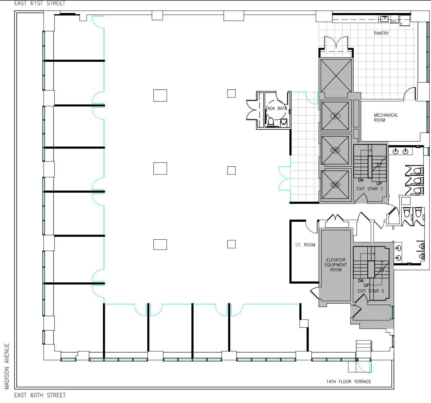 As-built floorplan