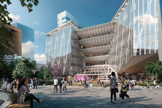 Rendering of The Bridge at Cornell Tech (Credit: Steelblue / Forest City Ratner Companies)
