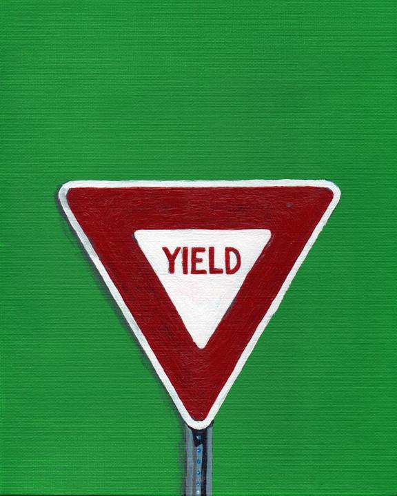 yield sign (mundane series)