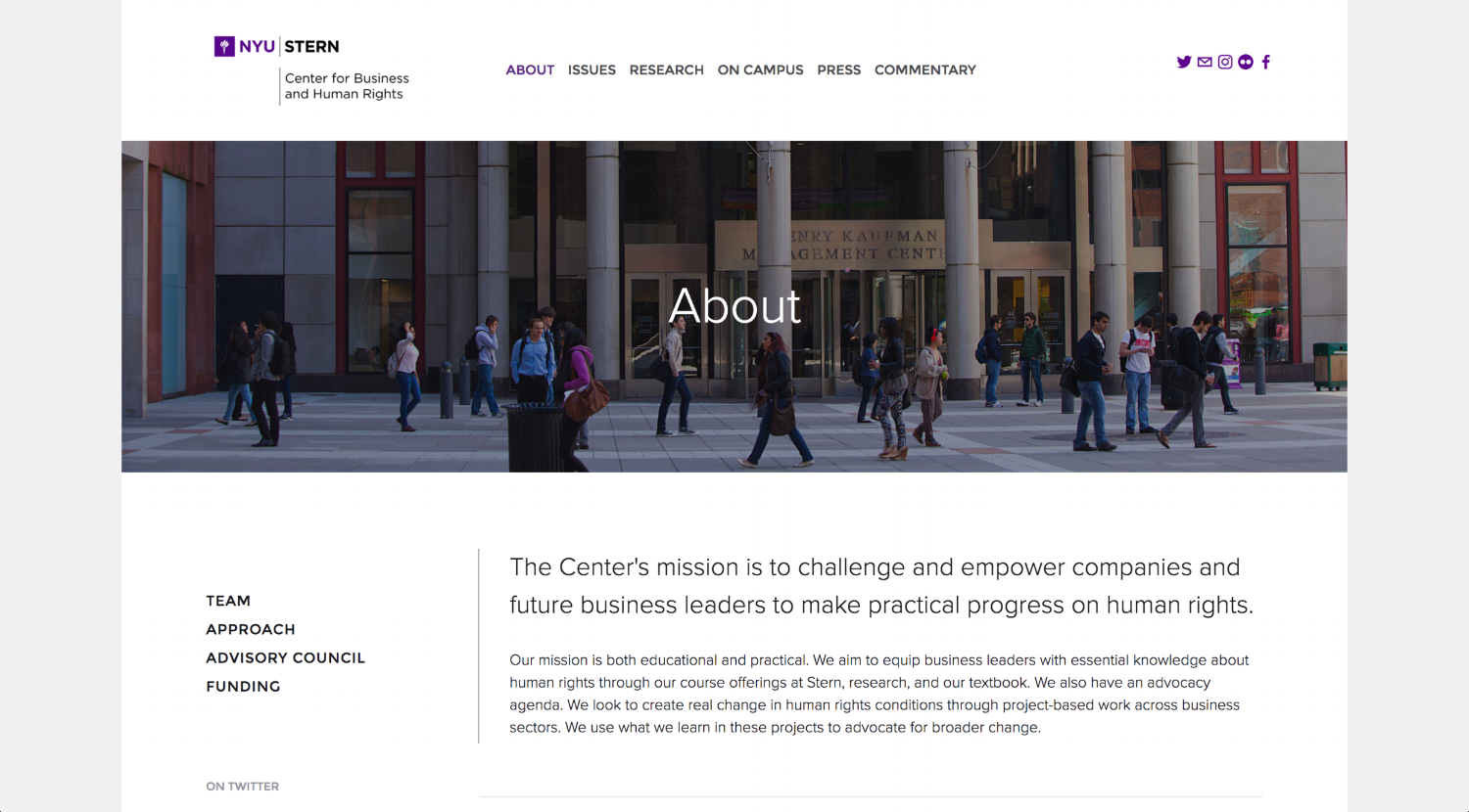 NYU Stern — Center for Business and Human Rights