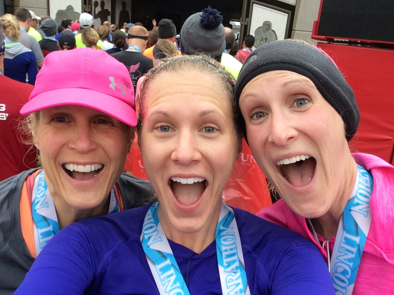 WE FREAKING DID IT. Two seconds of elation and joy before the freezing post-race body shock set in.