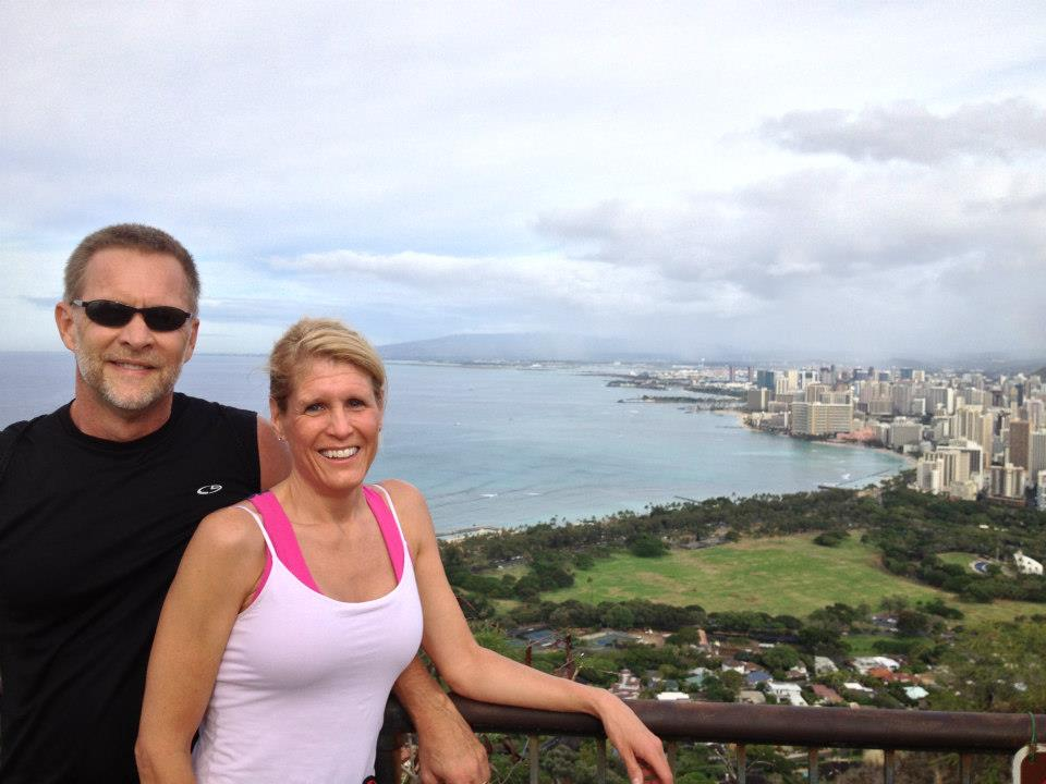 My parents went to Oahu four years ago and took this picture at the top of Diamond Head.