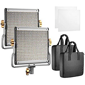 Neewer 2 Packs Dimmable Bi-color 480 LED Video Light -