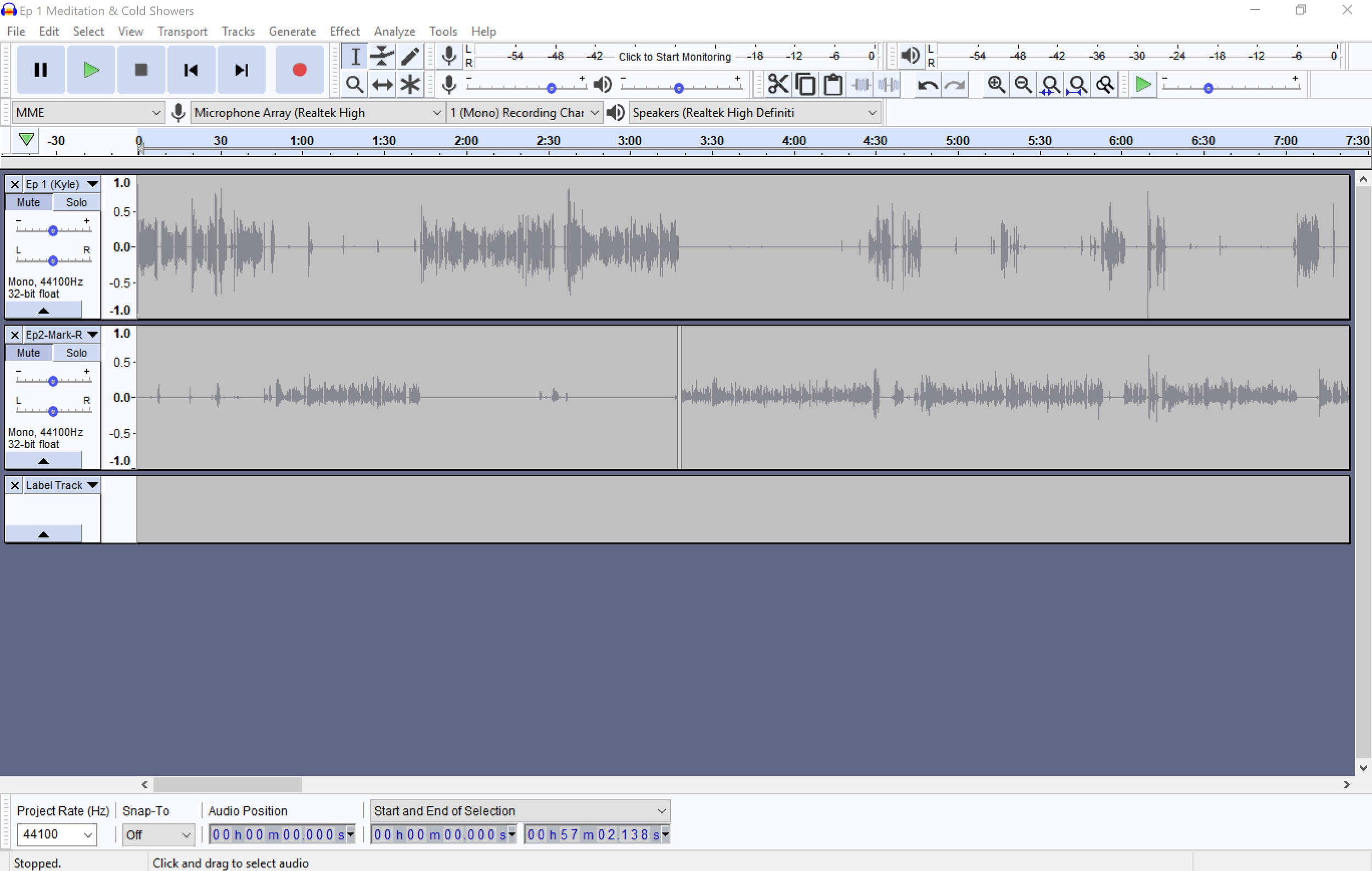 A look into Audacity