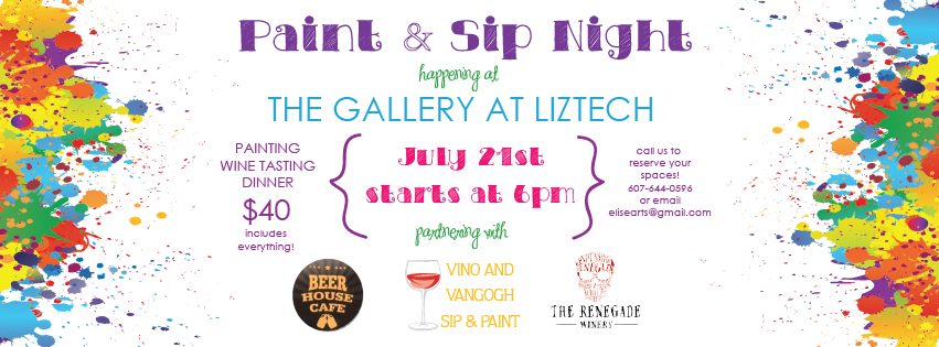 paint and sip liztech gallery
