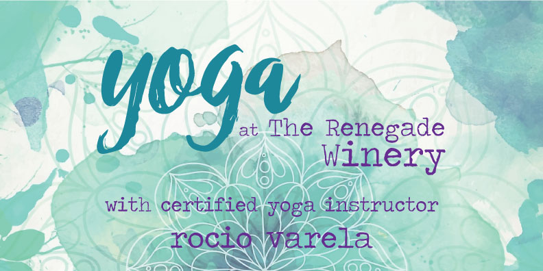 Join us at the winery for Sunday Morning Yoga with certified yoga instructor, Rocio Varela! All levels of yoga are welcome. Please bring your mat, extras will be on hand if you do not have your own mat. Tickets are $10.