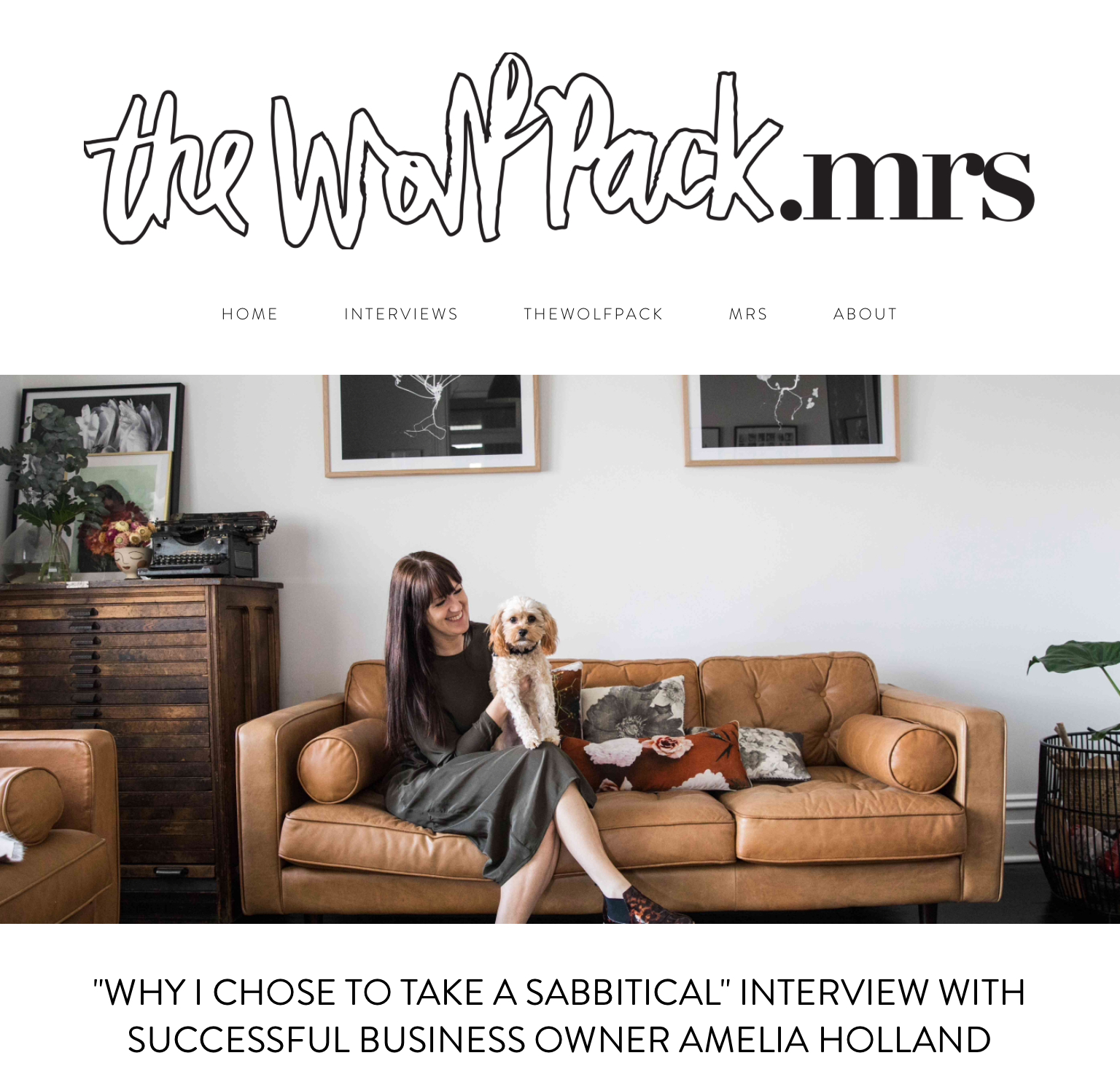 The Wolfpack Mrs Interview with Amelia Holland