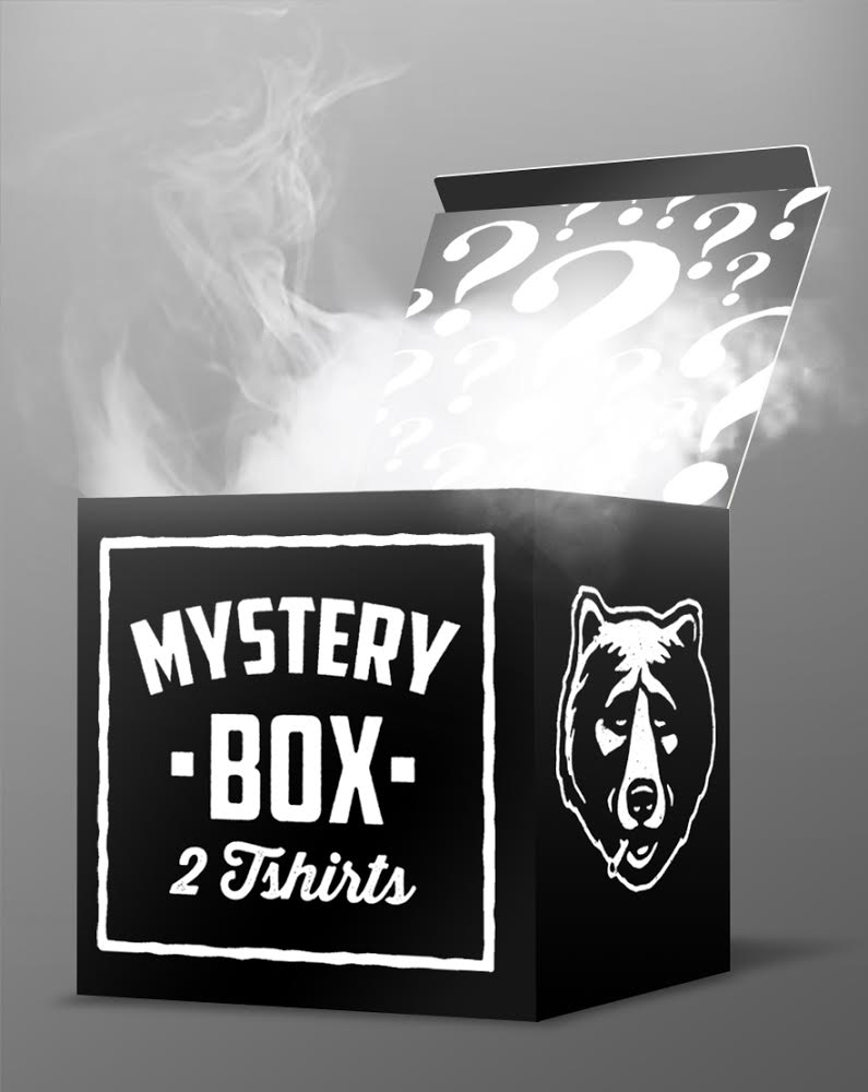 Save time & money with our Mystery Box!  The Doods realise every moment is precious and so is every penny, with that in mind we've packed some of our best selling, classic & limited edition shirts into boxes ready to send to you. All you have to do is choose the size, and in no time you'll have some fresh gear delivered to your door.  EUROPE: 2 Mystery T-Shirts =  69,80€  now only 29,90€ >  http://www.dudes-factory.com/europe_euro/thedudes-mysteryteetwo-010204900.html   UNITED KINGDOM: 2 Mystery T-Shirts =  49,80£  now only 24,90£ > http://www.dudes-factory.com/english_pound/thedudes-mysteryteetwo-010204900.html  WORLDWIDE: 2 Mystery T-Shirts =  69,80$  now only 29,90$ > http://www.dudes-factory.com/world_dollar/thedudes-mysteryteetwo-010204900.html