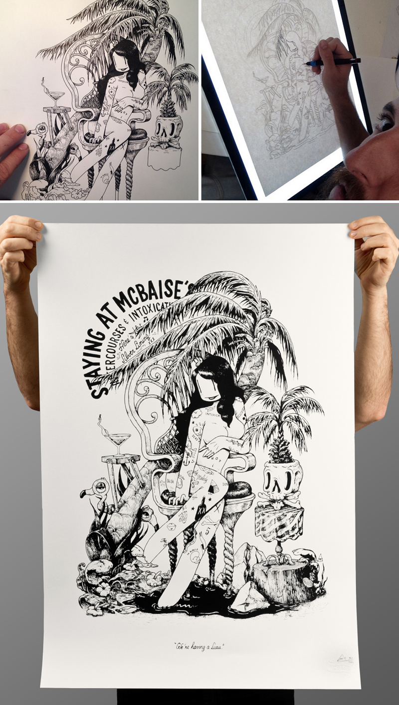 Another screenprint (57x84cm), limited to 100.  You can get one of those in my   store   :  http://deli.mcbess.com/europe_euro_sf/mcbess-atmcbaise-0204913400.html