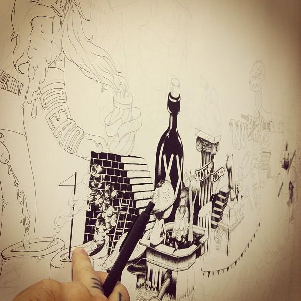 drawing wiv @ugogattoni (Taken with  instagram )