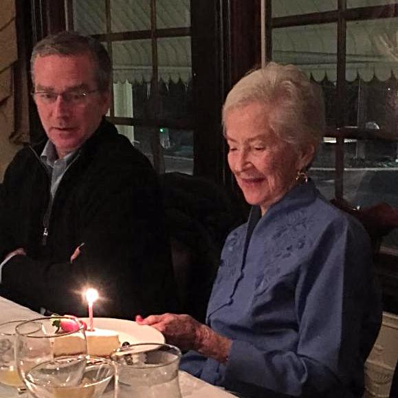 My brother Leidy and my Mother celebrating her 90th birthday last month.