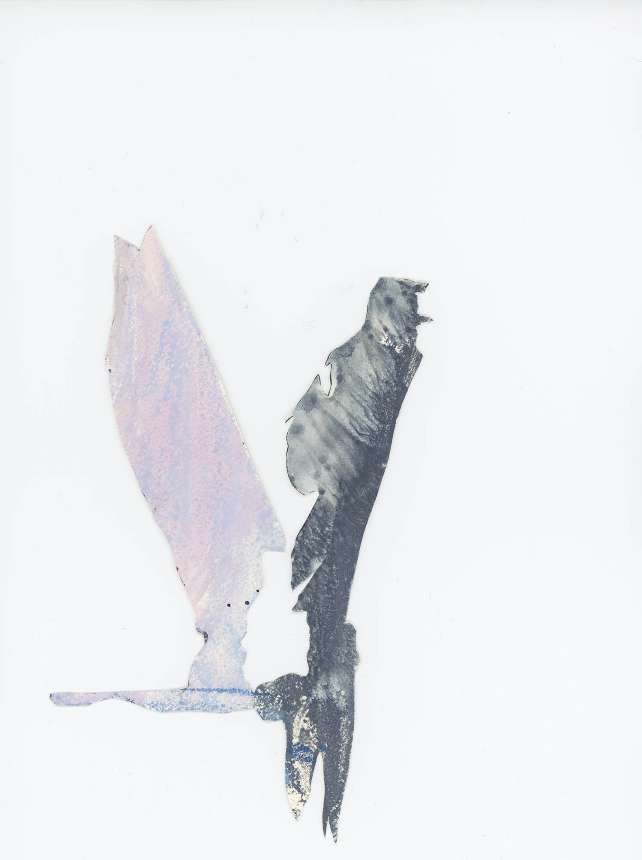 Wings I, 2013, 6x15cm, ink and oil paint on paper