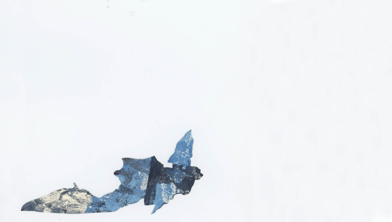 Wings III, 2013, 6x15cm, ink and oil paint on paper
