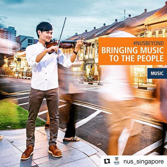 Honored to represent my beloved alma mater @nus_singapore @ystconservatory in their admissions campaign #NUSBeyond this year!  Standing in the middle of the road junction playing violin was pretty cool but I was sweating buckets 🌞  Link to my featured article in bio (interview was done last year so a little outdated)  #Repost @nus_singapore with @get_repost ・・・ 👨🏻‍🎓🎻🎼🎶 #NUSBeyond: Thanks to the diversity of skills gained at NUS beyond classical music training, @YSTConservatory alumnus Gabriel Lee is more than just a versatile violinist. Learn about Gabriel's life as the founding member of award-winning NUS quintet @LorongBoys, and his adventures touching lives abroad as a music festival director! ✈️💡🗺 #NUSLife #NUSGlobal - Go to nus.edu/nusbeyond-gabriel to read more! (Link in bio) - #NUS #NationalUniversityofSingapore #Singapore #LorongBoys #Musicians #SingaporeMusicians #Asia #Violinist #Violin #Talent