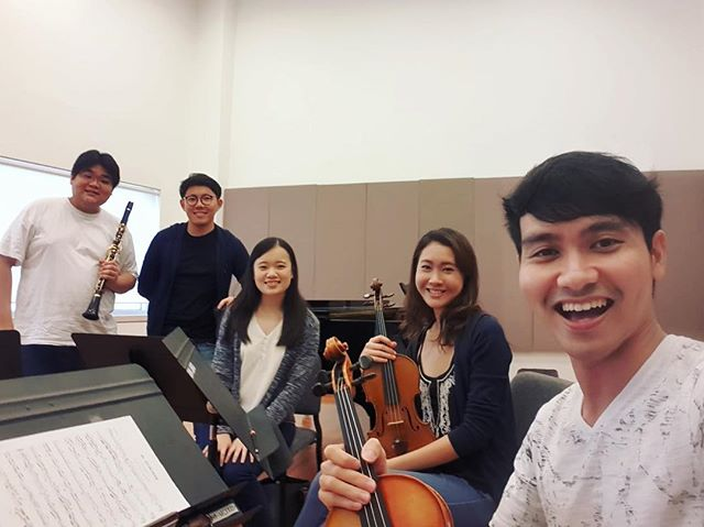 Come watch us perform a concert featuring repertoire for clarinet and strings next Friday 14 Sept 730pm at the NAFA Multi-Purpose Hall! Glinka, Bruch and Brahms! Free admission :) #clarinet #strings #violin #viola #cello #piano #violinist #sgmusic