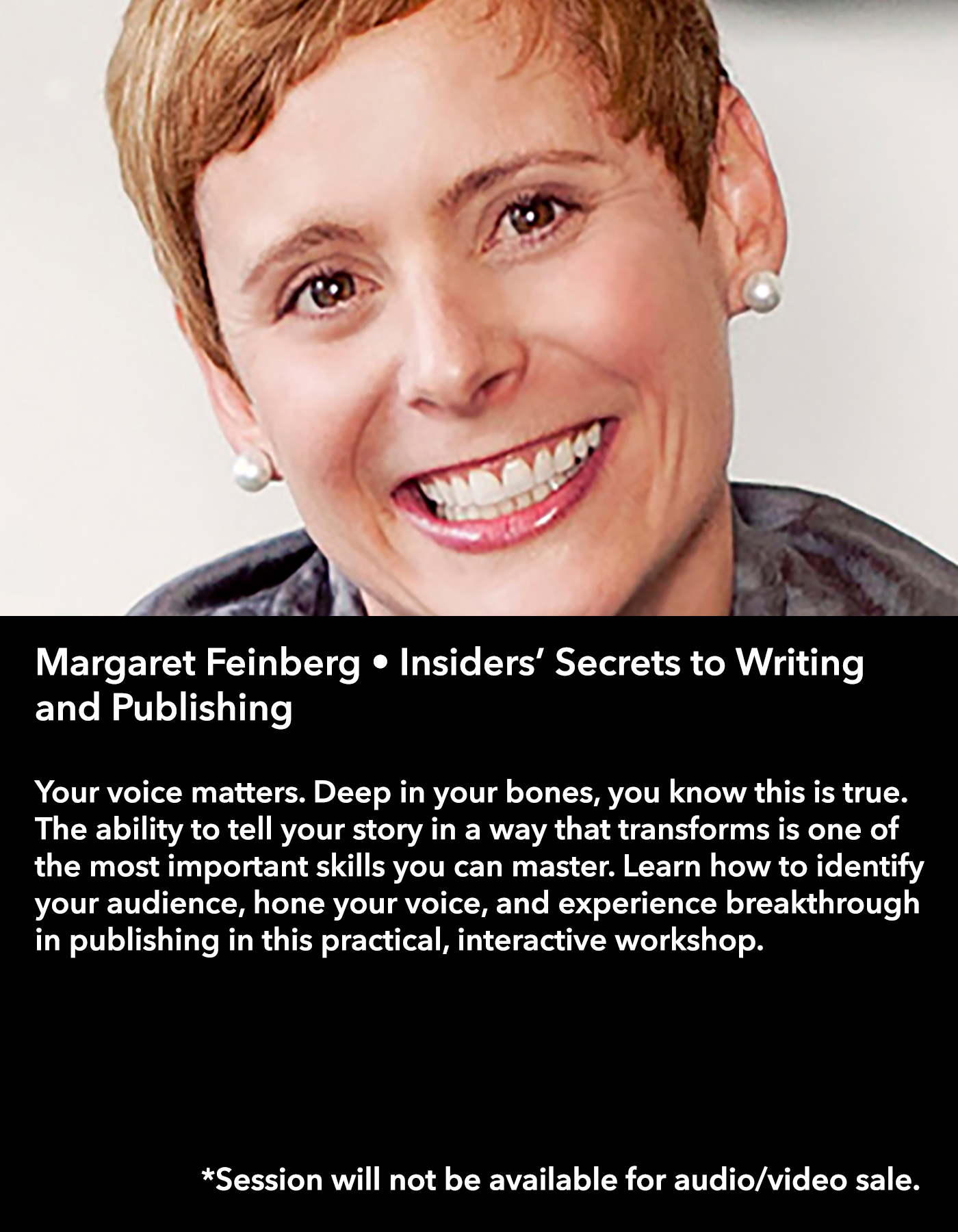 Margaret Feinberg • Insiders' Secrets to Writing and Publishing • Friday Afternoon, March 17 • 3:30 – 4:45 pm