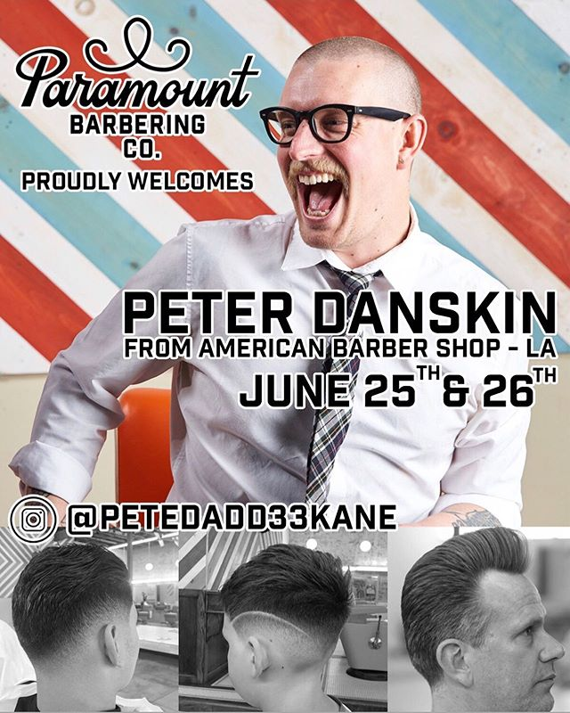 This week we are bringing a guest barber to Des Moines to cut at @paramountbarberingco on Tuesday and Wednesday this week! We are currently filling @petedadd33kane 's schedule so if you are interested in a haircut this week DM here! Otherwise our shop has no openings until end of July!