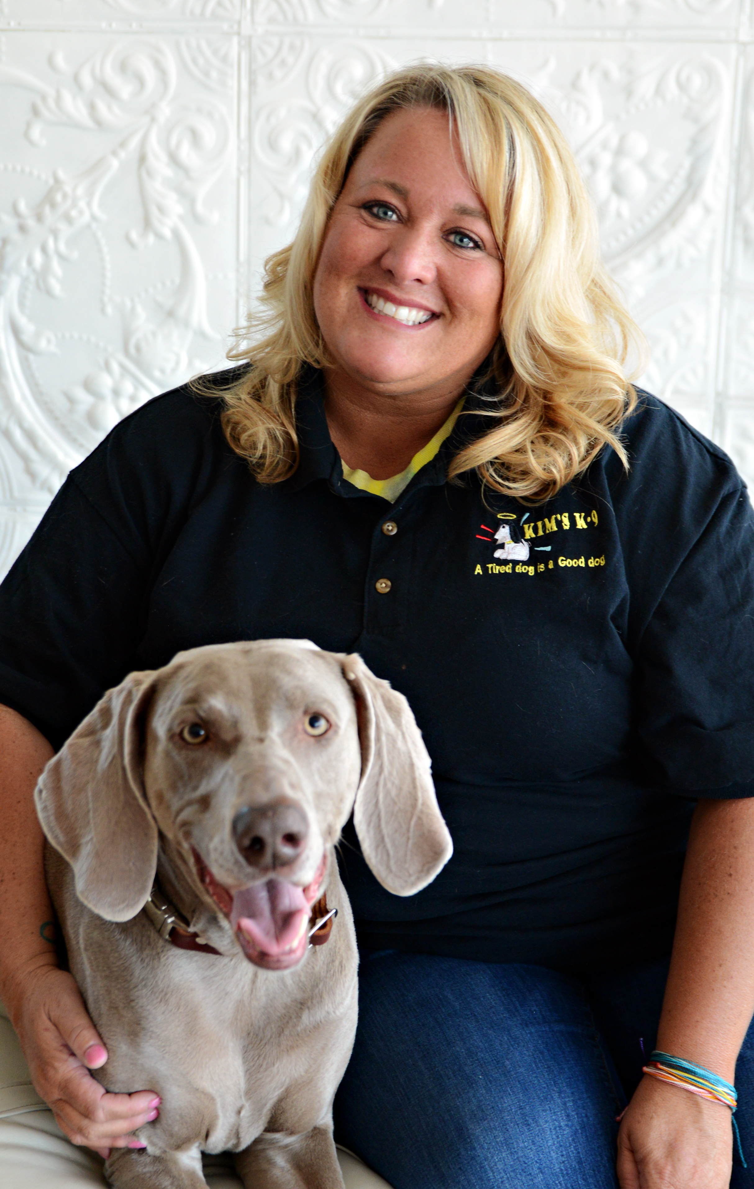 Kelli Wiseman- General Manager - Kelli has worked in management for over 20 years. Has been with Kim's K-9 for just a year now and loves working with the customers and dogs. Gives every dog that walks through the door a fun nickname and uses those nicknames when she gives them extra snuggles. She has a passion for photography and a love for all animals. Fur mom to Gracie and Ernie and two teenage daughters Georgia and Laci.