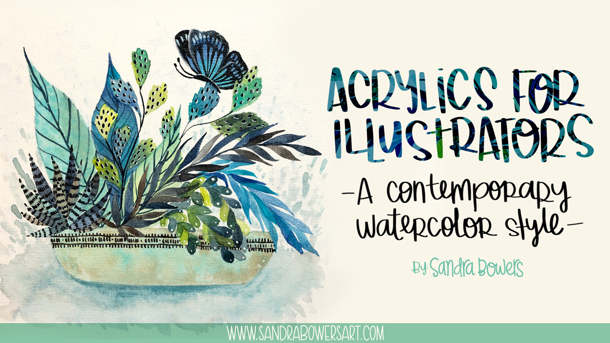 Acrylics for illustrators class