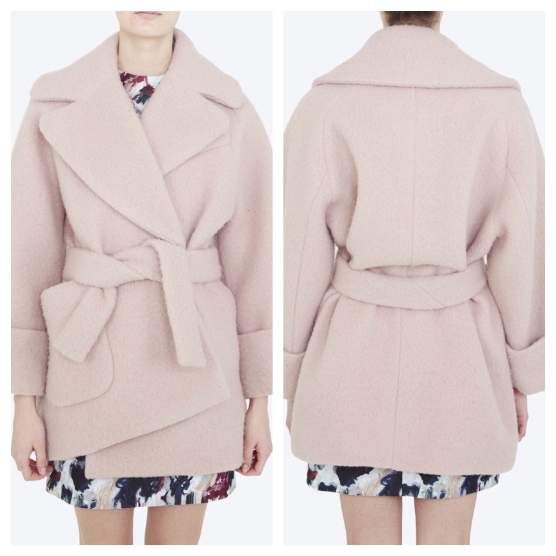 1st Trimester: CARVEN - Oversize blush coat, $1050 at  Nordstrom