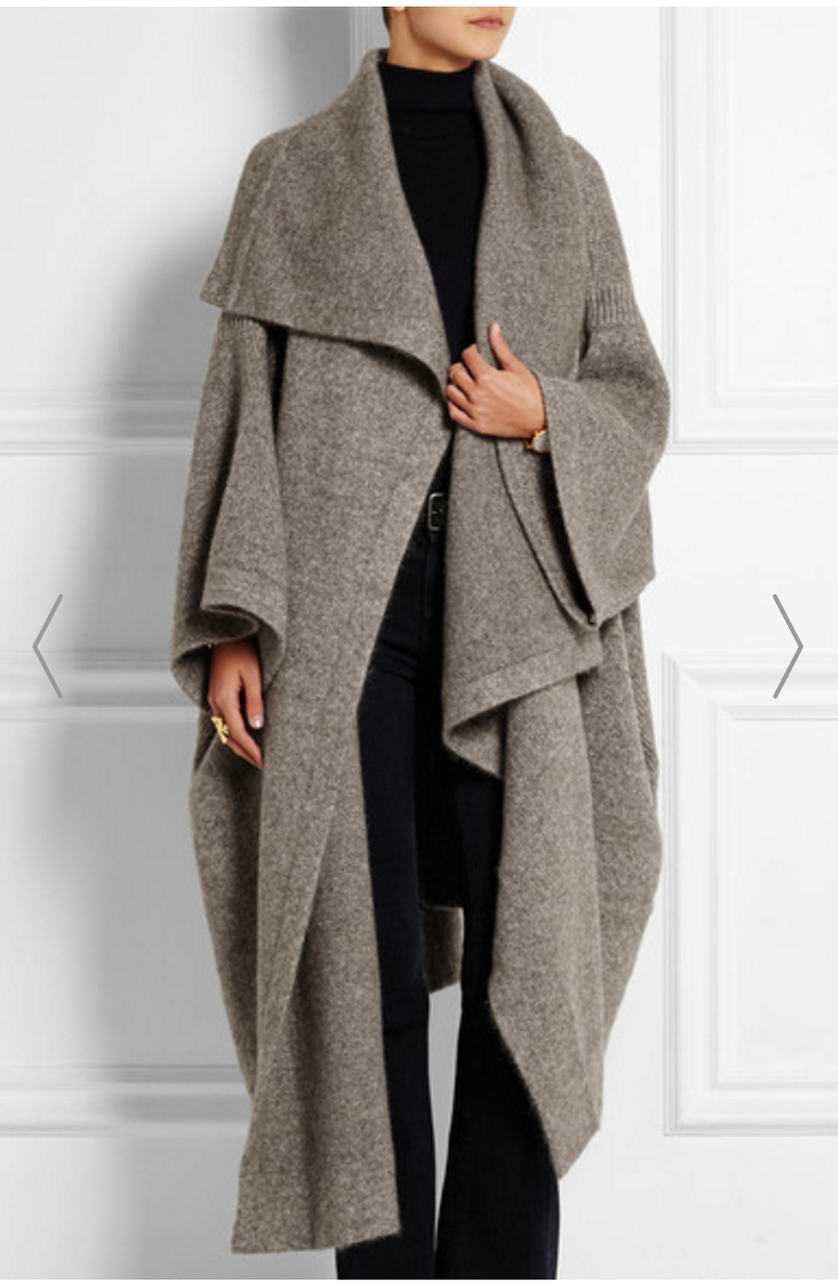 3rd Trimester: Stella McCartney, Draped Knitted Blanket Coat, $1065 (on sale) from  Net-a-Porter