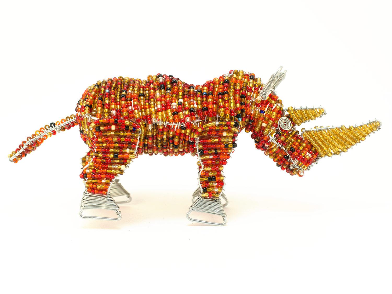 Beaded Rhino