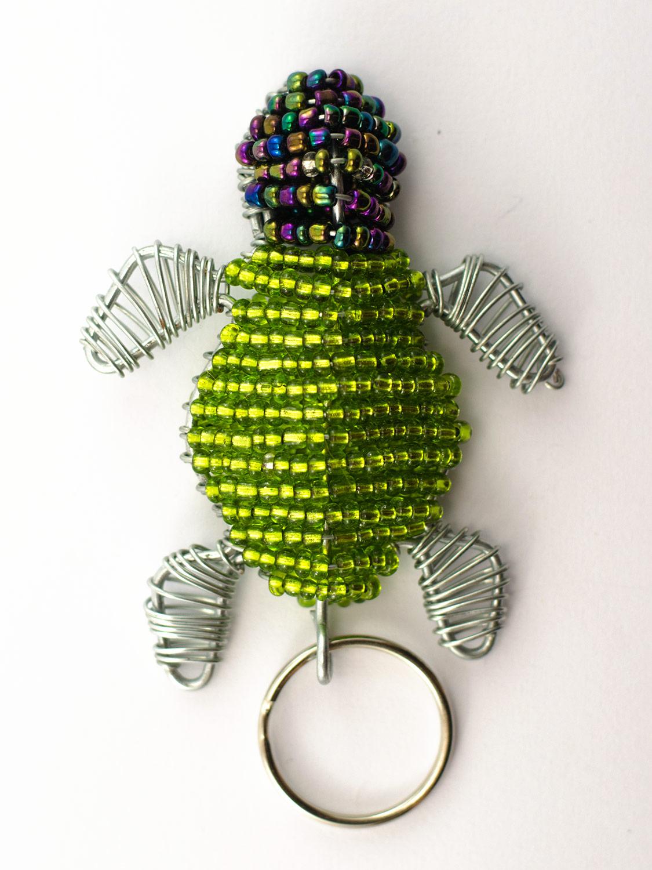 Beaded Turtle Keyring