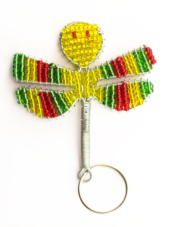 Beaded Dragonfly Keyring