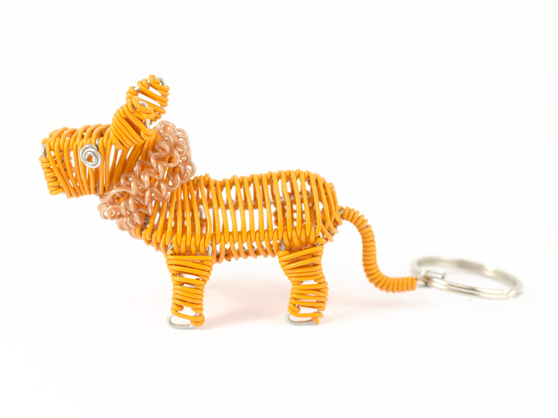 3D scooby Lion keyring