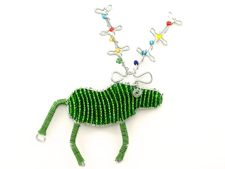 2D Beaded Reindeer