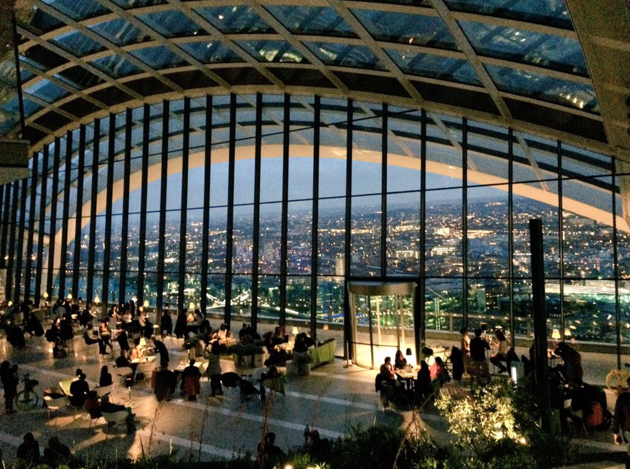 Friends in High Places.  The Sky Garden is where we held the first in the series of conversations at altitude.