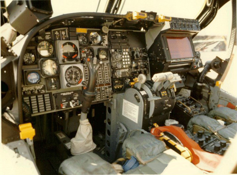 View of Mohawk cockpit from left seat