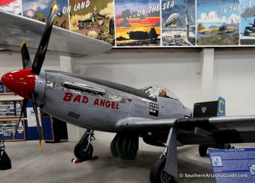 "P-51 Mustang ""Bad Angel"" in Hangar #4 at Pima Air and Space Museum"
