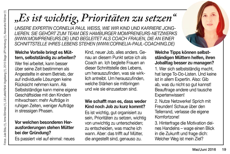 MRS. City Hamburg Zeitschrift