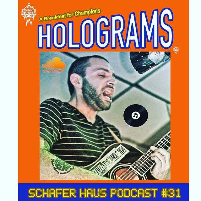 """Schafer Haus Podcast #31 """"Holograms"""" (Link in Bio) Scott sits down with Artist/Musician, """"I Am Hologram"""" to discuss all of his current musical endeavors! Hologram also gives  an amazing acoustic performance of some of the choice cuts from his upcoming August 16th Release: """"Not All of Us Are Human"""". The two also delve into: -His Album Release Show -The healing power of music -His creative process and what compelled him to begin performing again after years away from the stage -How he retaught himself to play guitar after suffering an epileptic seizure -The role CBD Oil has played in helping to manage his symptoms  #imnotafanofhashtagsbuttheyseemlikeaneccessarypromotionalstrategy  #iamhologram #schaferhauspodcast #musicandcomedypodcast"""