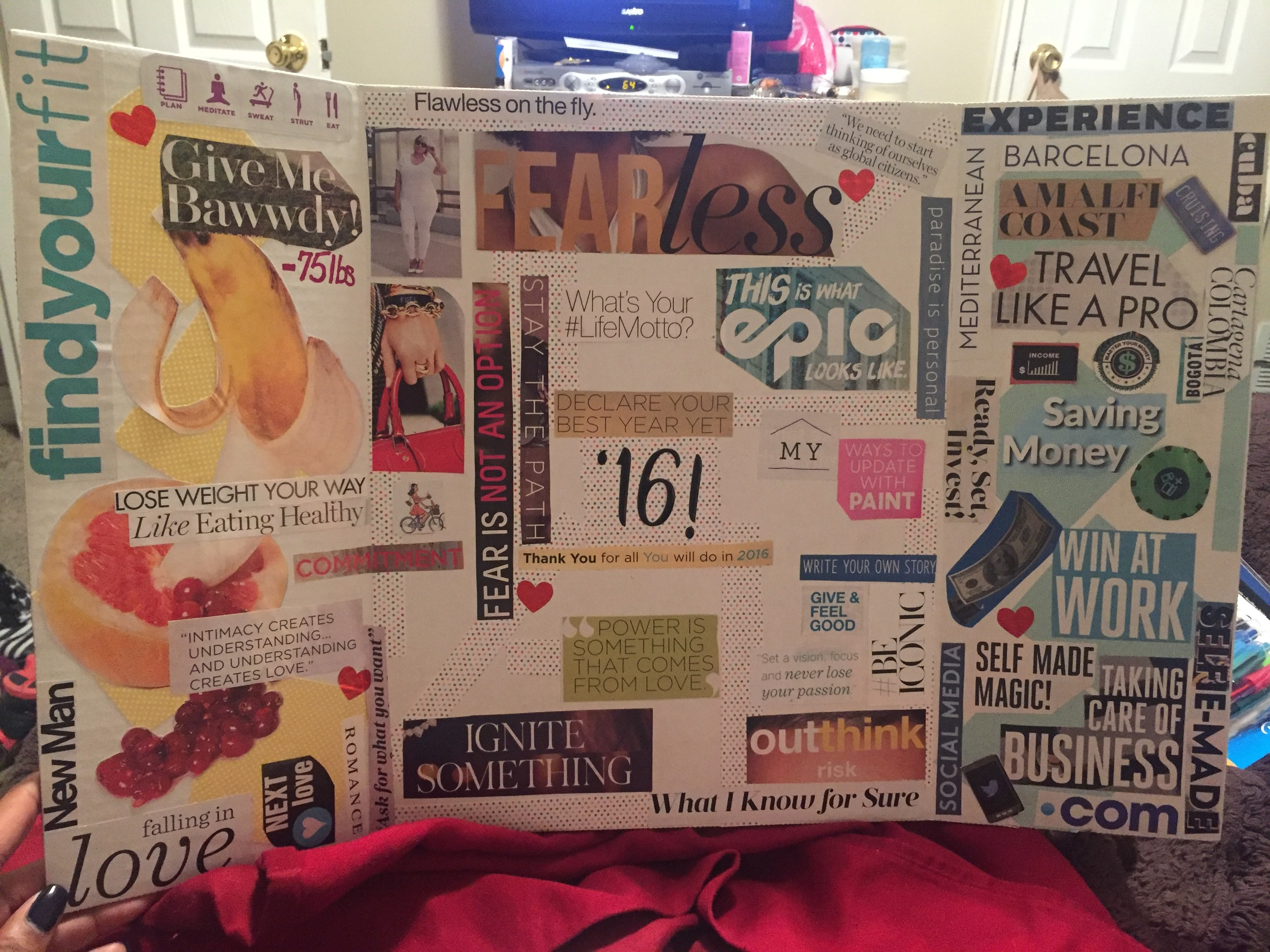 My 2016 Vision Board!