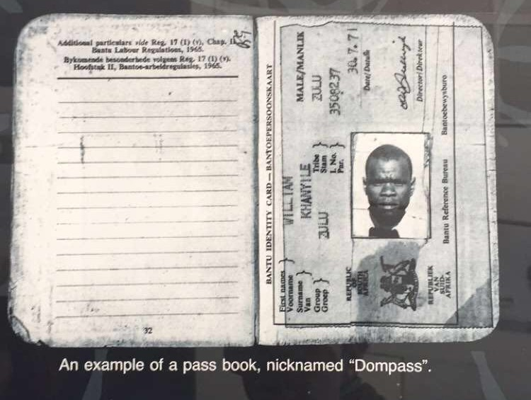 Blacks had to carry these books with them during Apartheid days.
