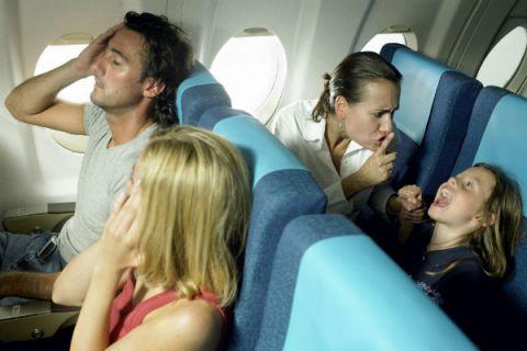 Always a screaming child on an airplane! DEM DA RULES!